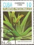 Sellos de America - Cuba -  PLANTAS  MEDICINALES.  ALOE  BARBADENSIS.