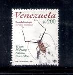Sellos del Mundo : America : Venezuela : Escarabajo arlequín (Acrocinus longimanus)