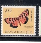 Sellos de Africa - Mozambique -  Mariposa (Amphicallia thelwalli Drc.)