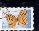 Sellos del Mundo : Europa : Rumania :  Mariposa (Arginnis  laodice Pall)