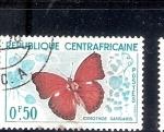 Sellos de Africa - Rep Centroafricana -  Mariposa (Cymothoe sangaris)