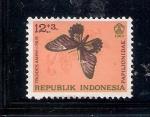 Sellos del Mundo : Asia : Indonesia : Mariposa (Papilionidae: Troides amphrysus)