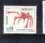 Stamps Monaco -  Cangrejo (Macrocheira kampferi)