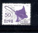 Stamps North Korea -  Mantarraya (Myliobatus tobijei)
