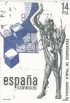 Stamps Spain -  Centenario de Pau Gargallo- escultor y pintor  (8)