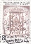 Stamps Spain -  III Centenario de la Bajada de la Virgen -La Palma  (8)