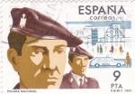 Stamps Spain -  Policía Nacional  (8)