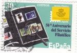 Sellos de Europa - España -  50 Aniversario del Servicio Filatélico  (8)