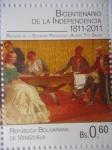 Stamps Venezuela -  Bicentenario de la Independencia 1811-2011 - Reunión de la sociedad Patriótica -(Sello 3 de 10)