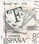 Sellos de Europa - España -  Tiziano 1477-1576   (8)