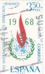 Stamps Spain -  Año internacional de los Derechos Humanos  (8)