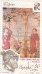 Stamps Spain -  Tapices- Calvario s. XVI  (8)