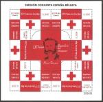 Stamps Europe - Spain -  Cruz Roja, 150 años llegando a los corazones,  Henri Dunant