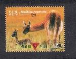 Sellos de America - Argentina -  Fauna en peligro: Guanaco