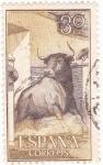 Stamps : Europe : Spain :  Toro saliendo del redil  (8)