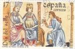 Sellos de Europa - España -  Día del Sello- Correo de Hombres Ricos s.XIII   (8)