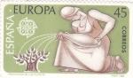 Stamps Spain -  EUROPA CEPT- Protección de las plantas  (8)