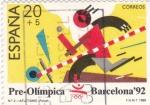 Stamps Spain -  Pre-Olímpica Barcelona-92 atletismo  (8)