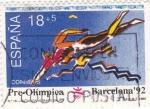 Sellos de Europa - España -  Pre-Olímpica Barcelona-92 natación  (8)