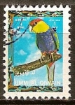 Sellos del Mundo : Asia : Emiratos_Árabes_Unidos : El perico capelo (Purpureicephalus spurius).