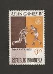 Sellos de Asia - Indonesia -  IV Juegos Asiáticos