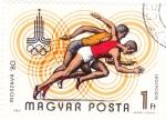Stamps Hungary -  Olimpiada de Moscú-80