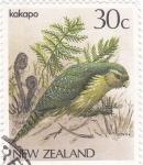 Sellos de Oceania - Nueva Zelanda -  Ave- kakapo