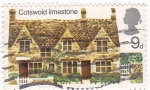 Stamps United Kingdom -  Costwold limestone