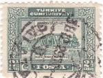 Stamps Turkey -  Puente ferroviario