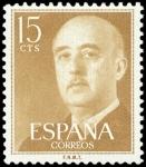 Sellos de Europa - España -  ESPAÑA SEGUNDO CENTENARIO Nº 1144 ** 15C  OCRE ** GENERAL FRANCO