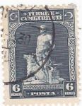 Stamps Turkey -  Legendario herrero y su perro lobo