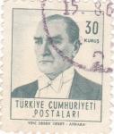 Sellos del Mundo : Asia : Turquía : Presidente Mustafa Kemal Atatürk