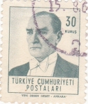 Stamps : Asia : Turkey :  Presidente Mustafa Kemal Atatürk