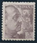 Sellos de Europa - España -  ESPAÑA 919 GENERAL FRANCO Y ESCUDO DE ESPAÑA