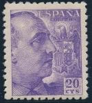 Sellos de Europa - España -  ESPAÑA 922 GENERAL FRANCO Y ESCUDO DE ESPAÑA