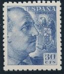 Sellos de Europa - España -  ESPAÑA 924 GENERAL FRANCO Y ESCUDO DE ESPAÑA
