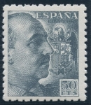 Stamps : Europe : Spain :  ESPAÑA 927 GENERAL FRANCO Y ESCUDO DE ESPAÑA