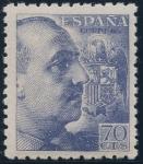 Sellos de Europa - España -  ESPAÑA 929 GENERAL FRANCO Y ESCUDO DE ESPAÑA