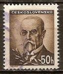 Sellos del Mundo : Europa : Checoslovaquia : Pres. Masaryk.