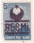 Stamps Turkey -  Presidente Ismet Inönü
