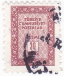 Stamps : Asia : Turkey :  Cifras