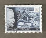 Stamps Europe - Vatican City -  Visita del Papa Juan Pablo II a Asia y Oceania