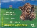 Sellos de America - Argentina -  País libre de fiebre aftosa Bse