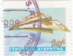 Stamps Argentina -  Avión de Papel