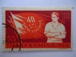 Stamps Romania -  40º Ani de la Greva General-R.P. Romina-1920-21960