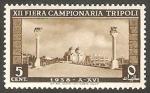 Stamps Libya -   161 - Avenida Mussolini, en Bengasi