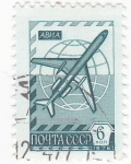 Stamps : Europe : Russia :  Avión
