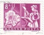Stamps : Europe : Hungary :  Comunicaciones
