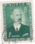 Stamps : Europe : Norway :  Rey Haakon VII