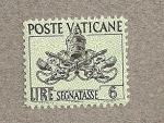 Stamps Europe - Vatican City -  Escudo Vaticano